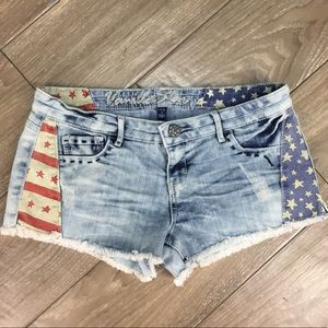 Vanilla Star patriotic denim shorts